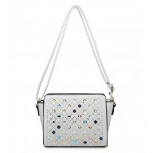 Izzy cross body bag white