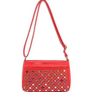 Izzy messenger bag red