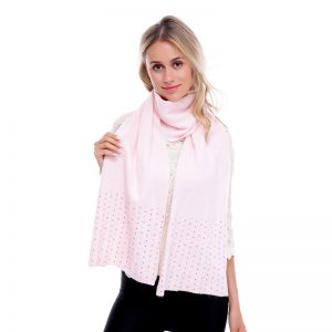 Pearl sparkle scarf pink