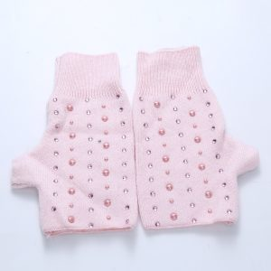 Pearl sparkle gloves pink