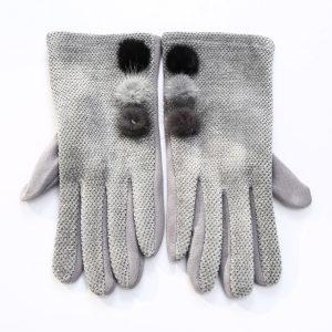 Pom gloves grey