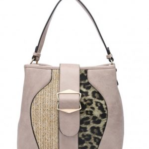 Leopard print handbag soil