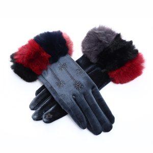 Sparkle fur gloves