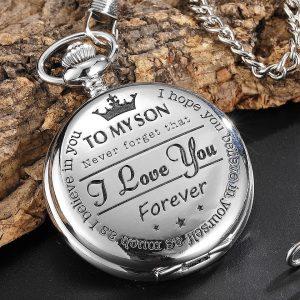 Son pocket watch silver