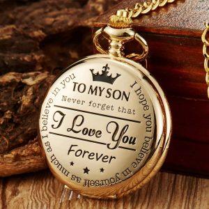 Son pocket watch gold