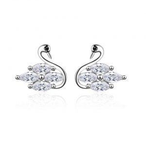 Small swan earrings