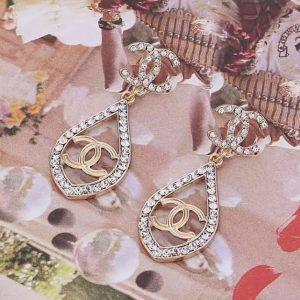 CC earrings clear diamanté