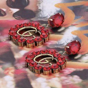 GG earrings red