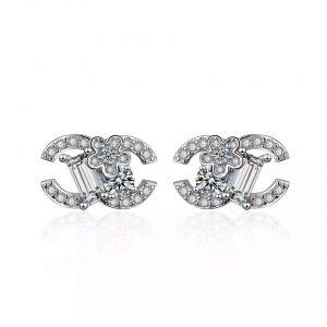 Floral CC earrings