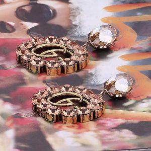 GG earrings champagne