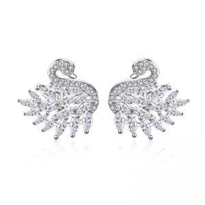 Large swan earrings