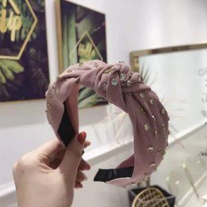 Zara embellished hairband pink
