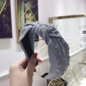 Zara embellished hairband blue