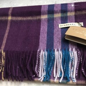 Burb inspired scarf purple