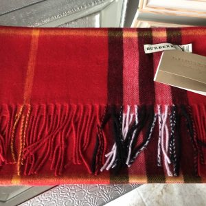 Burb inspired scarf red