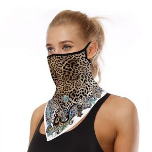 Leopard floral face covering