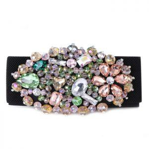 Diamanté multicoloured belt