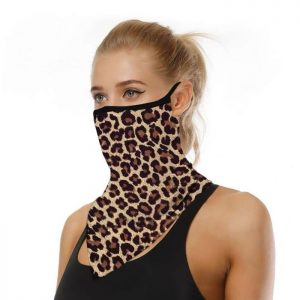 Leopard print face covering