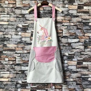 Unicorn apron beige