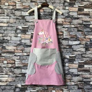 Unicorn apron pink