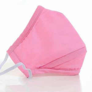Pink triple layer cotton face mask
