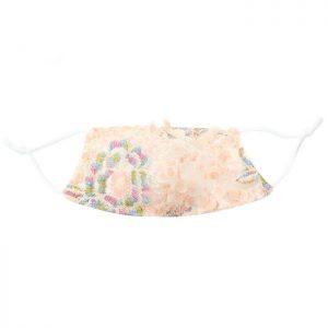 Sequin floral mask
